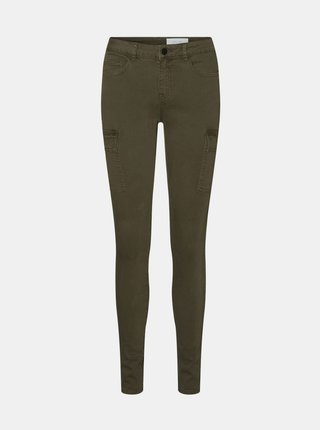 Kaki skinny fit nohavice Noisy May Lucy