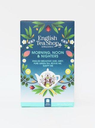 Organický zelený a čierny čaj English Tea Shop Morning, Noon and Nighters