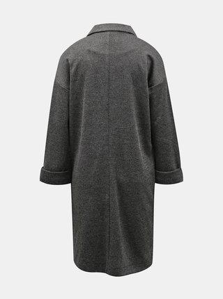 Šedý lehký dlouhý kabát Pieces Dorita