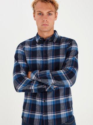 Modrá kockovaná košeľa Blend