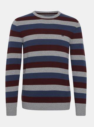 Modro-šedý pruhovaný sveter Blend