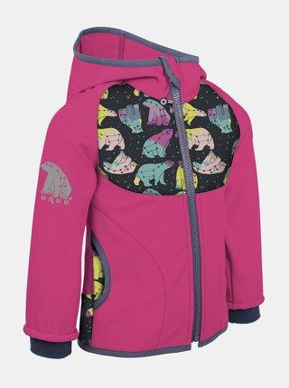 Růžová holčičí softshellová bunda Unuo