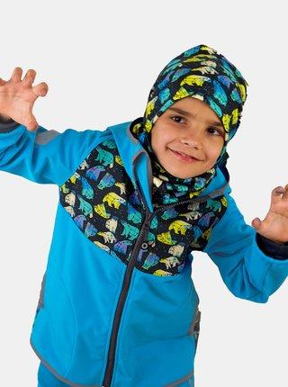 Modrá chlapčenská softshellová bunda Unuo