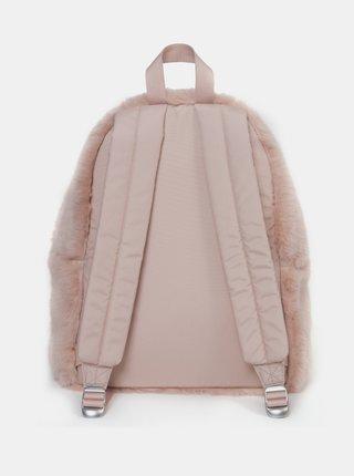 Ružový batoh z umelého kožúšku Eastpak 24 l