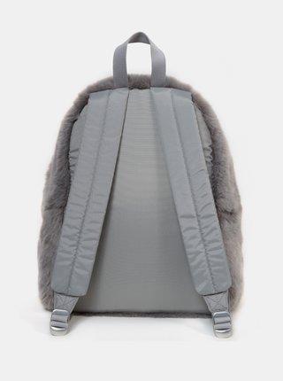 Šedý batoh z umělého kožíšku Eastpak 24 l