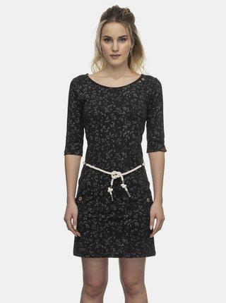 Čierne kvetované šaty Ragwear