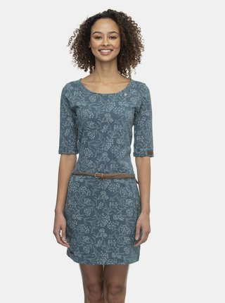 Modré kvetované šaty Ragwear