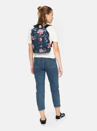 Tmavomodrý kvetovaný batoh Eastpak 10,5 l
