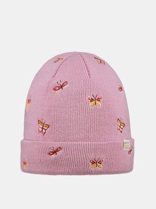 Ružová dievčenská čiapka Barts