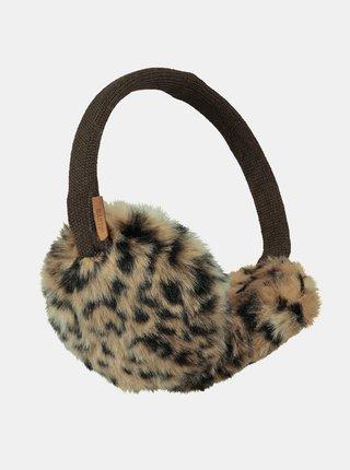 Hnědé dámské klapky na uši s leopardím vzorem Barts