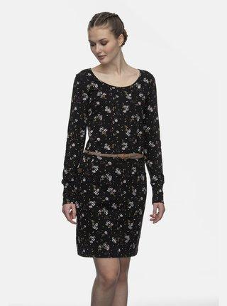 Černé květované šaty Ragwear Montana