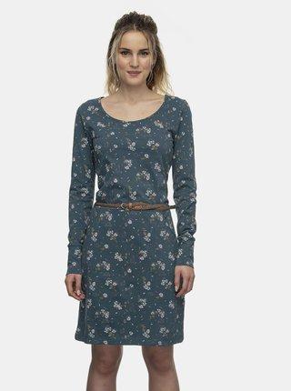 Modré květované šaty Ragwear Montana