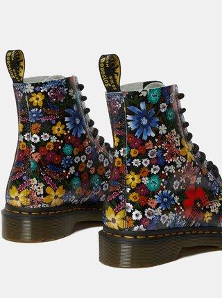 Tmavě modré dámské vzorované kožené kotníkové boty Dr. Martens 1460 Pascal Wanderlust