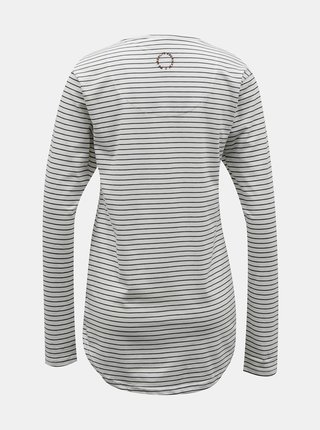Biele dámske pruhované tričko Alife and Kickin