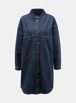 Modrá dlouhá džínová bunda Jacqueline de Yong
