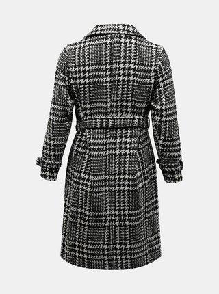 Bílo-černý kostkovaný kabát ONLY CARMAKOMA