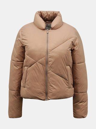 Béžová zimná prešívaná bunda Jacqueline de Yong Timber