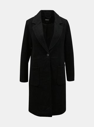 Černý kabát s příměsí vlny ONLY Olivia