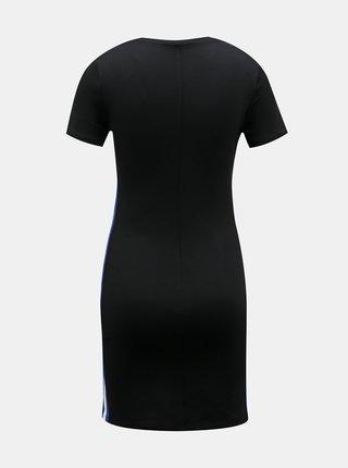 Černé pouzdrové šaty s lampasem TALLY WEiJL
