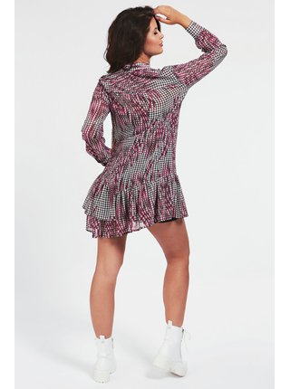 Guess šaty All Over Print Flounce Dress