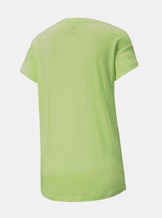 Zelené dámske tričko s potlačou Puma