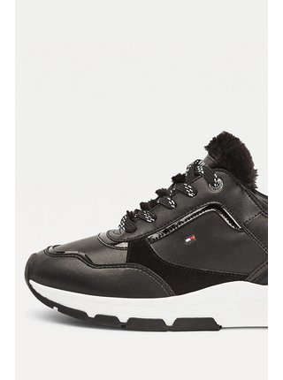 Tommy Hilfiger černé tenisky s kožíškem Sporty Chunky Warm Sneaker Black