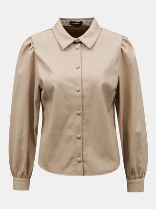 Béžová koženková košile TALLY WEiJL