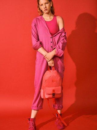 Růžový dámský batoh Consigned