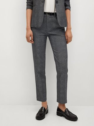 Nohavice pre ženy Mango - sivá