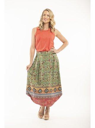 Orientique zelená dlouhá sukně Kea