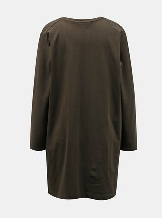 Kaki voľné šaty Miss Selfridge