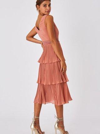 Ružové plisované šaty Little Mistress
