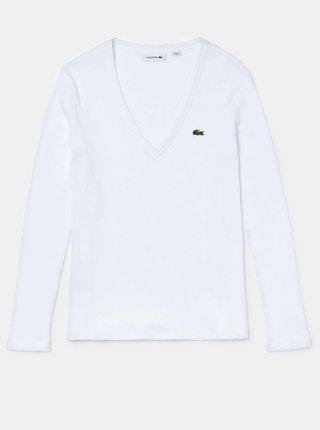 Biele dámske tričko Lacoste