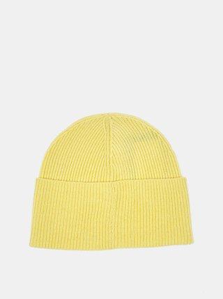 Žltá dámska vlnená čiapka Lacoste
