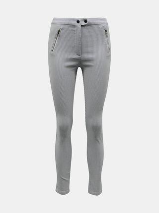 Svetlošedé pruhované skinny fit nohavice TALLY WEiJL