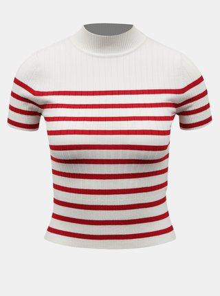 Bílé pruhované krátké tričko TALLY WEiJL