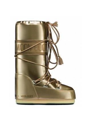 Moon Boot zlaté zimní boty Vinil Met Gold