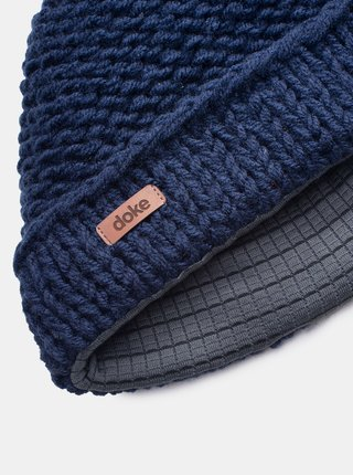 Tmavě modrá pánská čepice DOKE