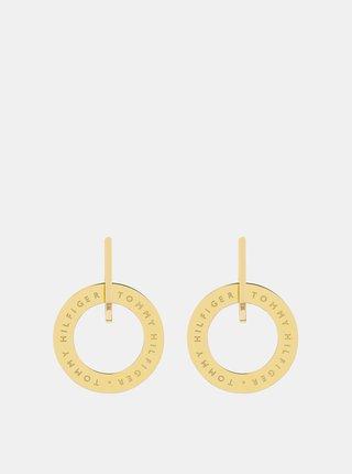 Dámske náušnice v zlatej farbe Tommy Hilfiger
