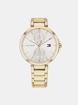 Dámské hodinky s ocelovým páskem ve zlaté barvě Tommy Hilfiger