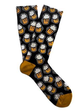 Soxit černé unisex ponožky Black Beer