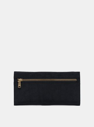 Čierna kožená peňaženka Herschel Supply