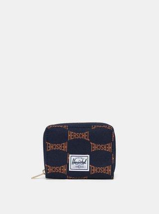 Tmavomodrá vzorovaná peňaženka Herschel Supply