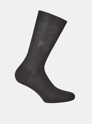 Tmavošedé pánske ponožky FILA