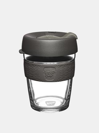 Šedý sklenený cestovný hrnček KeepCup Brew Nitro medium 340 ml