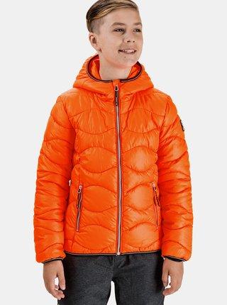Oranžová chlapčenská prešívaná bunda SAM 73