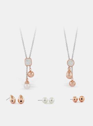 Sada dámskych náušnic a náhrdeľníkov Pierre Cardin