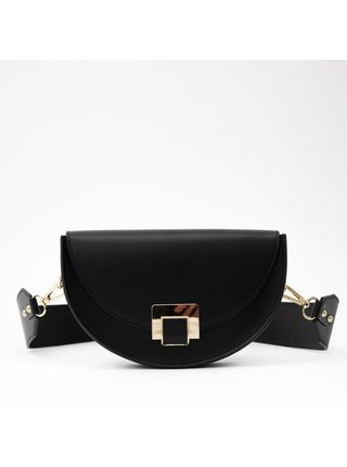 Černá kabelka Loro Oro Moon saddle bag
