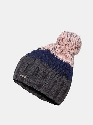 Ružovo-šedá dievčenská čiapka Hannah