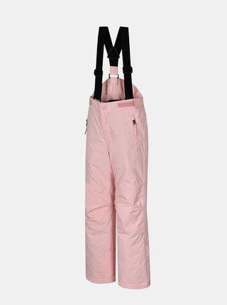 Ružové dievčenské zateplené nohavice Hannah